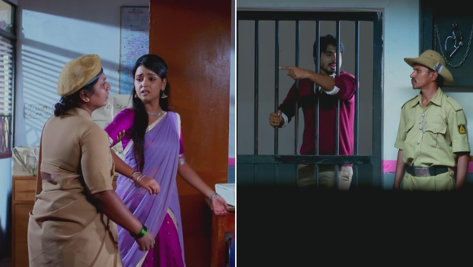 When Vedanth Tries To Stop The Lady Constable From Dragging Amulya Away