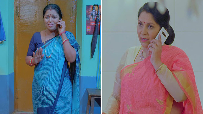 A Collage Of Pushpa And Aarya's Mother