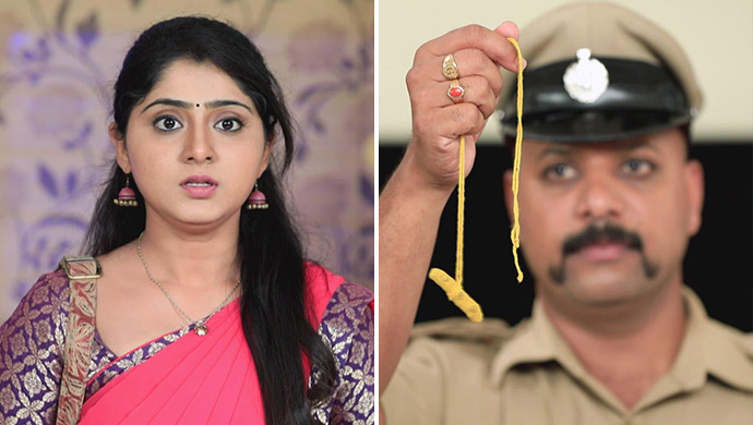 A Collage Of Radha And The Inspector Holding Out The Thaali