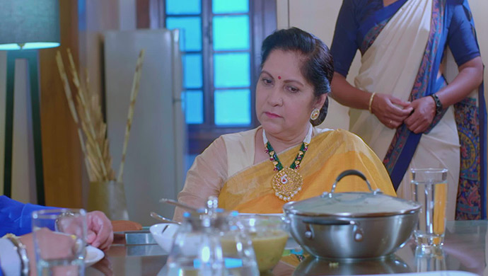 A Sad Still Of Aarya's Mother