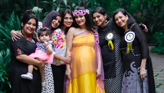 A Smiling Still Of Radhika Pandit At Her Baby Shower