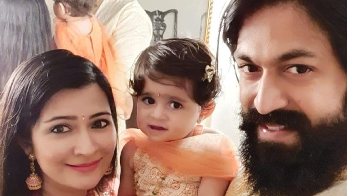 KGF Hero Rocking Star Yash And His Baby Girl Ayra Welcome The Newest Member Of The Family