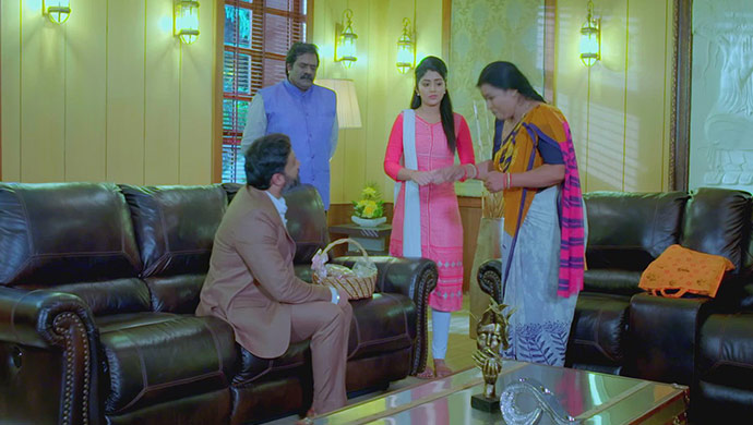 A Still Of Aaryavardhan, Jande, Anu And Pushpa