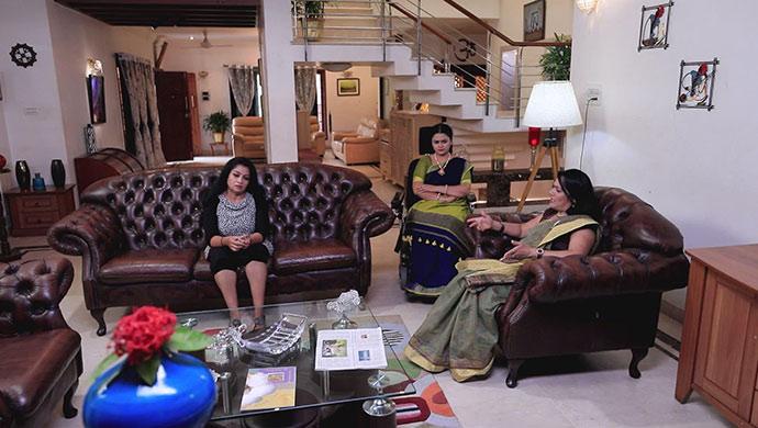 A Still Of Bhavani, Kaushalya And Aparna Devi