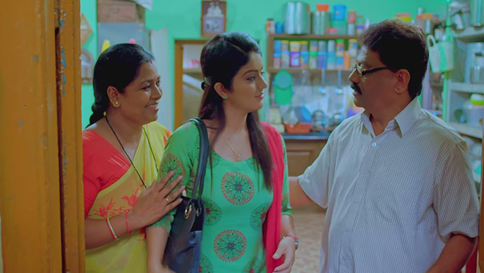 A Still Of Pushpa, Anu And Subbu