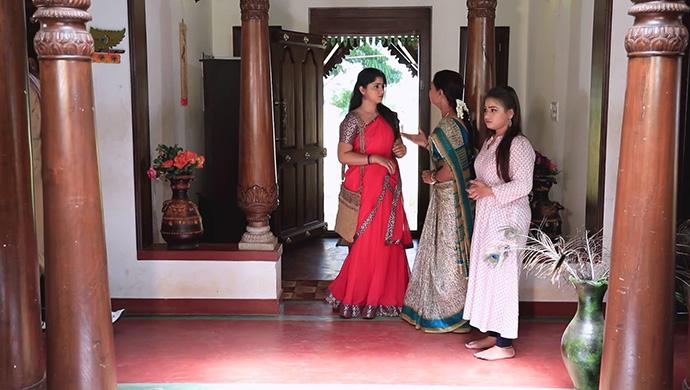 A Still Of Radha, Tulasi And Likitha
