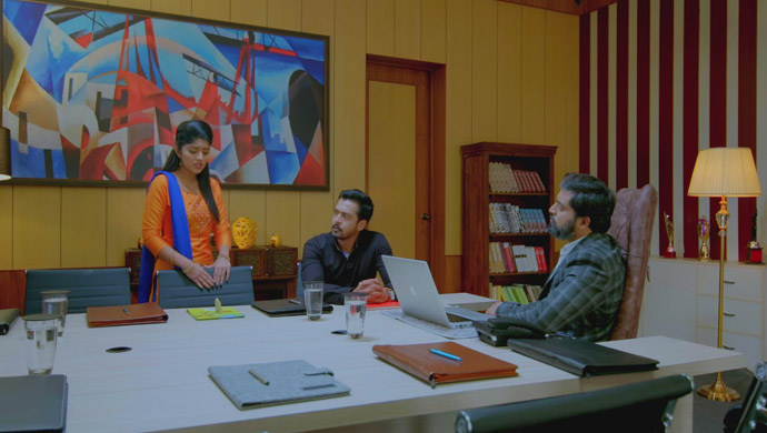 Anu, Harshavardhan And Aaryavardhan In A Still