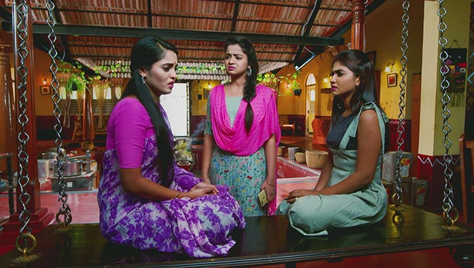 A Still Of Aarthi, Adithi And Sarika
