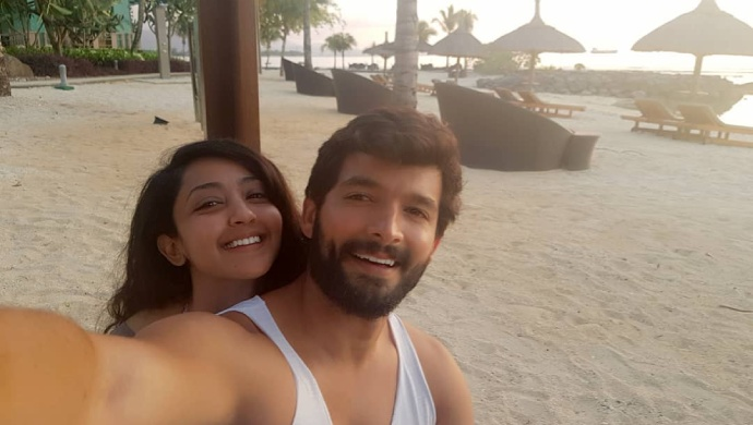 A Still Of Aindrita Ray And Diganth Manchale Taking A Vacation