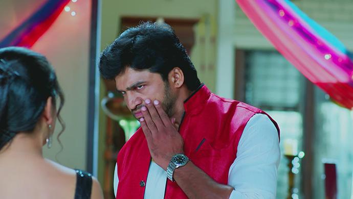 A Still Of Amulya Slapping Kishan