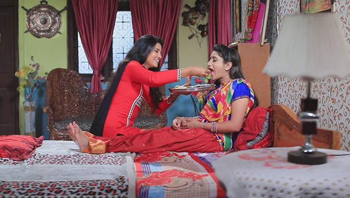 A Still Of Namratha And Belli