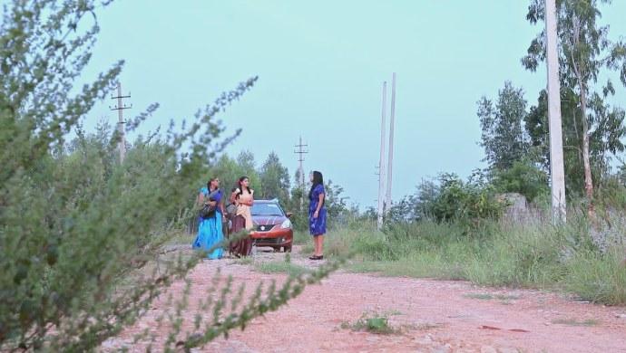 A Still Of Ningi, Kamali And Anika