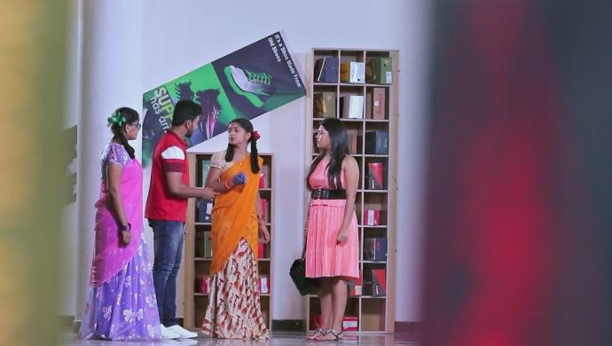 A Still Of Ningi, Rishi, Kamali And Anika