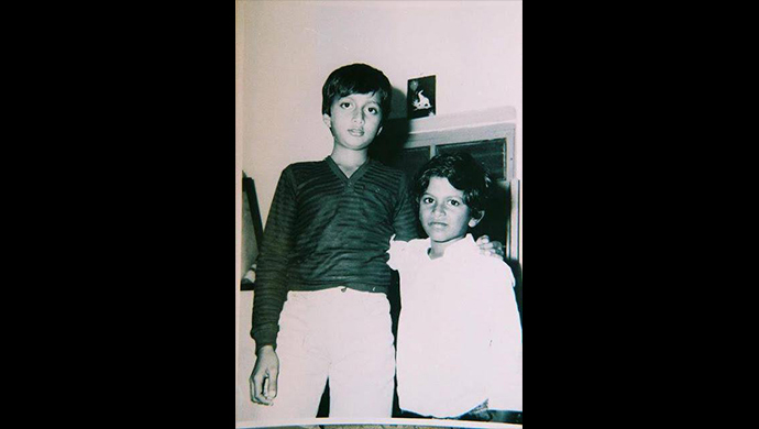 A childhood photo of Kichcha Sudeep and Puneeth Rakjumar