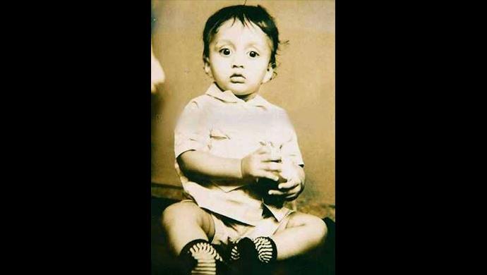 A childhood photo of Kichcha Sudeep