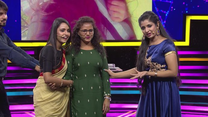 Amulya has a cute moment with her mother
