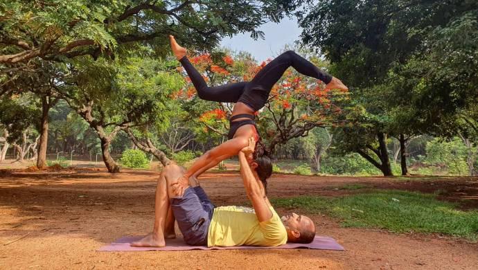 Samyuktha Hegde has a fun time while practicing