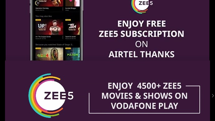 Here's How You Can Avail Free ZEE5 Subscription On Airtel Thanks