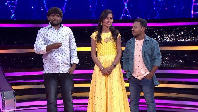 Rakesh, Sandu and Deepika from Comedy Khiladigalu Season 3