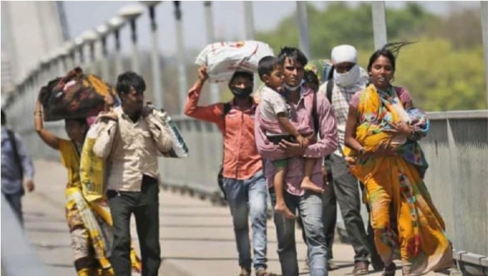 Migrant Labourer Gives Birth While Walking Home; Walks 150 Kilometres To Madhya Pradesh