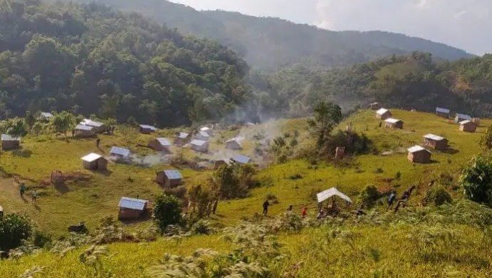 80 Bamboo Huts Set Up In Manipur To Quarantine People Arriving From Out Of State
