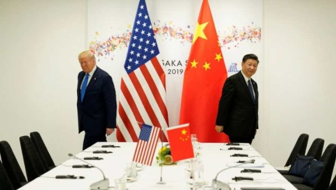 Us President Trump and China President Jinping