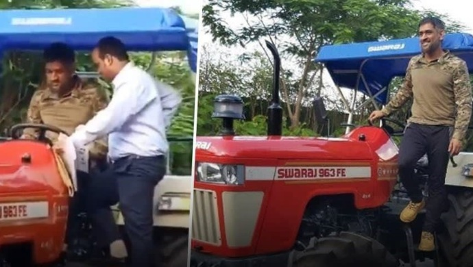 Lockdown Diaries: Mahendra Singh Dhoni Spotted Driving Tractor In Hometown Ranchi