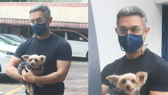 Aamir Khan Makes Rare Outdoor Appearance With Dog