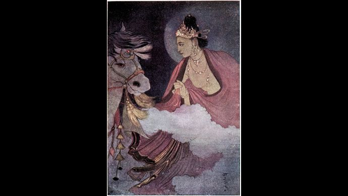 Departure of Siddhartha by Abanindranath Tagore