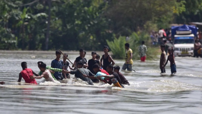 Assam Floods: Daranga River Washes Away Man Along Indo-Bhutan Border