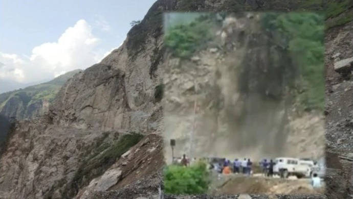 Uttarakhand: Mountain Landslide Triggered By Heavy Rain Closes NH-07