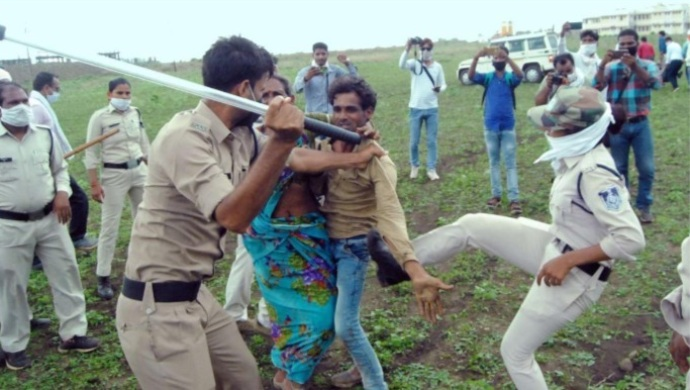 MP Police Claim Viral Video Of Thrashing Guna Dalit Farmer And Wife Is Edited