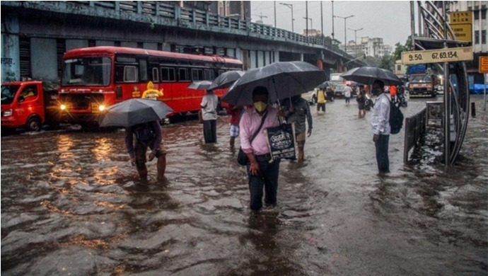 Mumbai Rains: Waterlogging And Traffic Jams In Several Areas Due To Heavy Showers