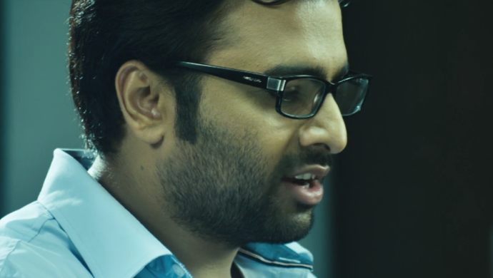 Nara Rohith in a still from Prathinidhi