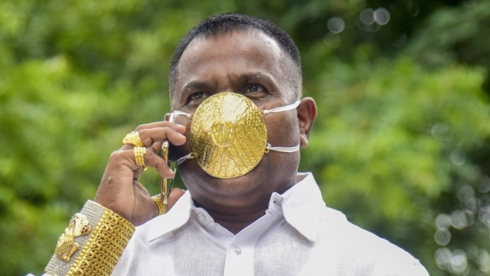 Pune Jeweller Makes Gold Mask Worth Rs 6.5 Lakhs