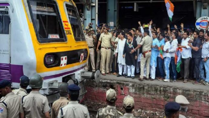 Rail-Roko: Stranded Mumbai Commuters Block Suburban Train Service