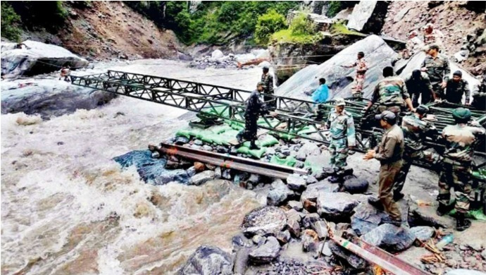 Bridge In Pithoragarh, Uttarakhand, Collapses Due To Downpour; Rescue Operations Underway