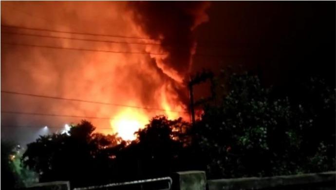One Injured As Visakhapatnam's Jawaharlal Nehru Pharma City Catches Fire