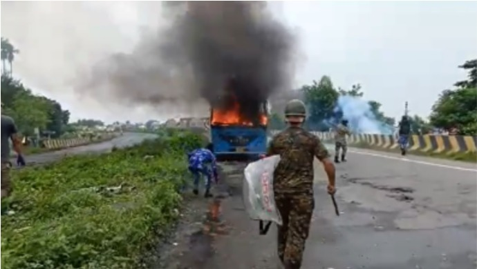 Several Vehicles Torched In West Bengal After Alleged Gang-Rape And Murder Of Class 10 Student