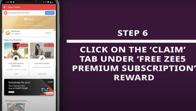 ZEE5 Subscription On Airtel Thanks App 6