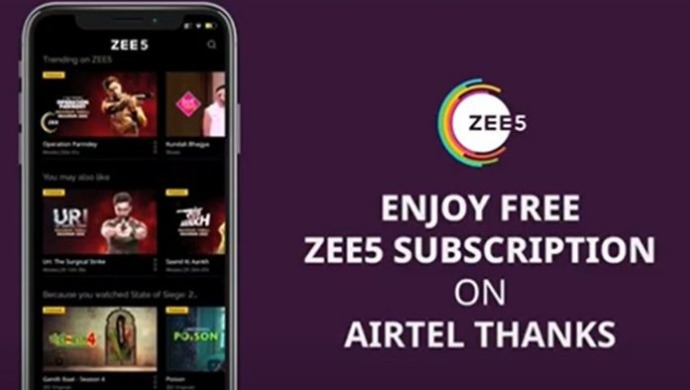 Airtel Users Can Now Enjoy ZEE5's Premium Subscription With The Prepaid Bundled Plan Of Rs 289