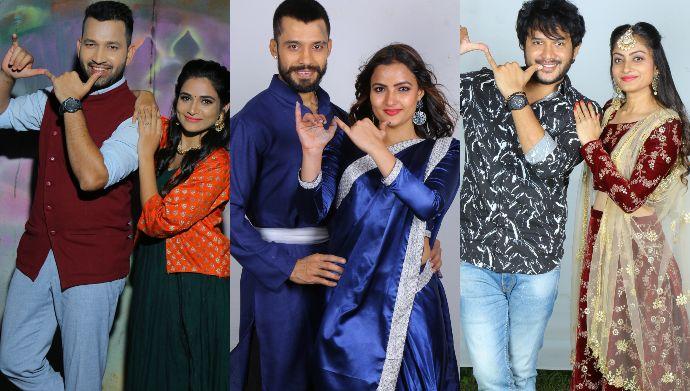 Actors pose at Krishna Krishna event