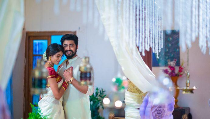 Akshara and Aravind in Radhamma Kuthuru