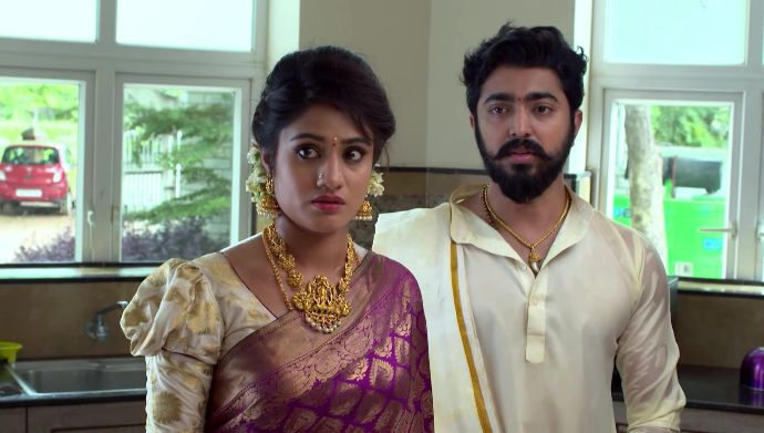 Aravind and Akshara in Radhamma Kuthuru