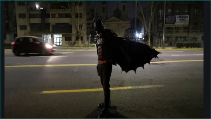 Real Superhero Disguised As Batman Feeds The Poor In Chile In South America