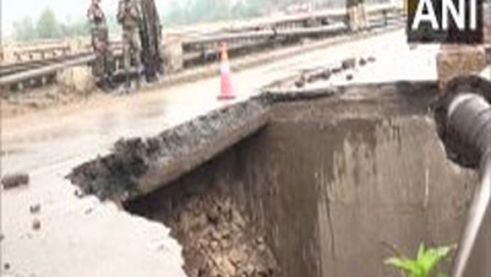 Bridge Collapses Due To Heavy Rains In Jammu And Kashmir