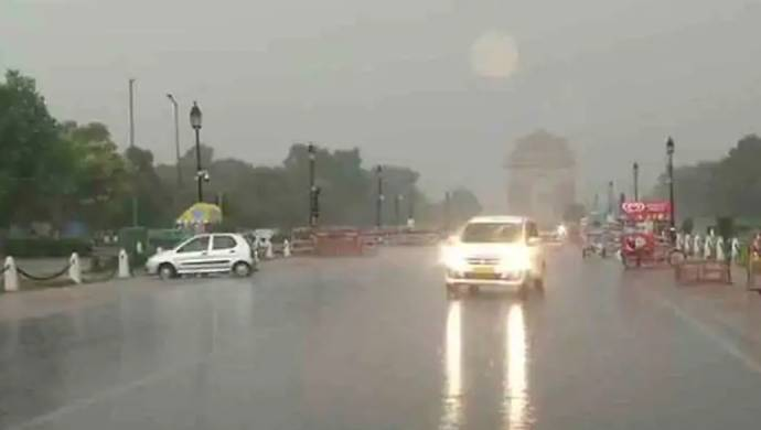 Delhi Rains: Citizens Caught In Traffic Jam As Heavy Rainfall Continues
