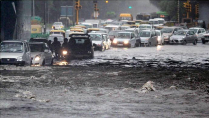 Delhi Rains: Heavy Rains Cause Severe Waterlogging And Traffic Jams In Capital