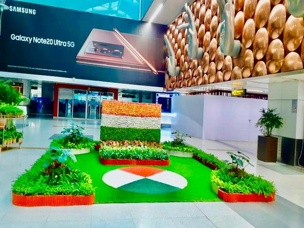 Filled with patriotism: Delhi Airport decorated with tricolour on Independence Day