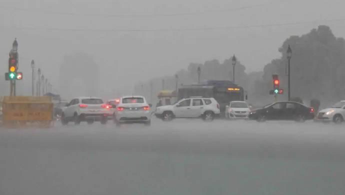 Heavy Rains Bring Traffic To A Halt In Delhi